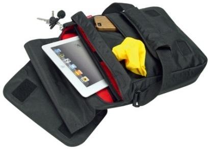 リクセンカウル KLICKfix スマートバッグ KM833 バッグを開いた状態とレインカバー(防水カバー)